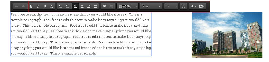 在富文本编辑器中修改文字